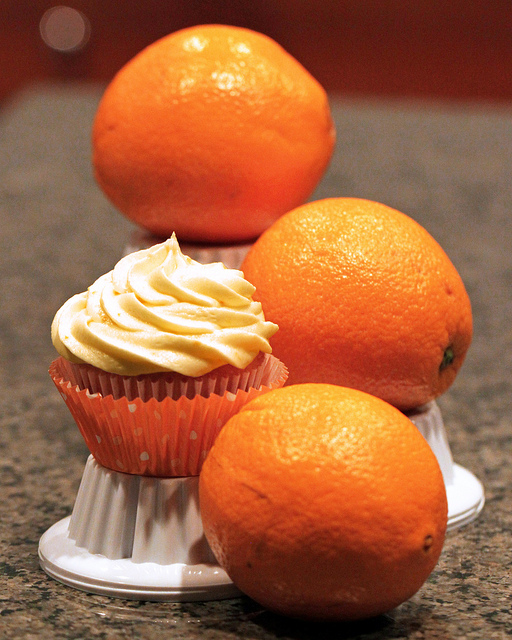 Orange Cupcake With Orange Brandy Frosting