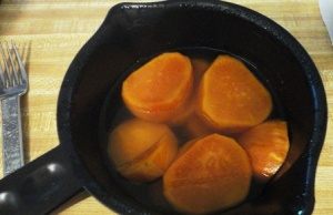 Cook sweet potato