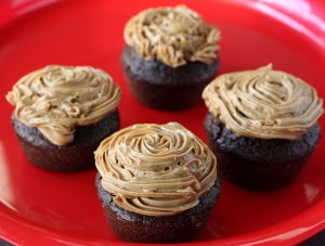 Prune Cupcakes With Coffee Butter Frosting