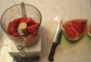 how to puree watermelon