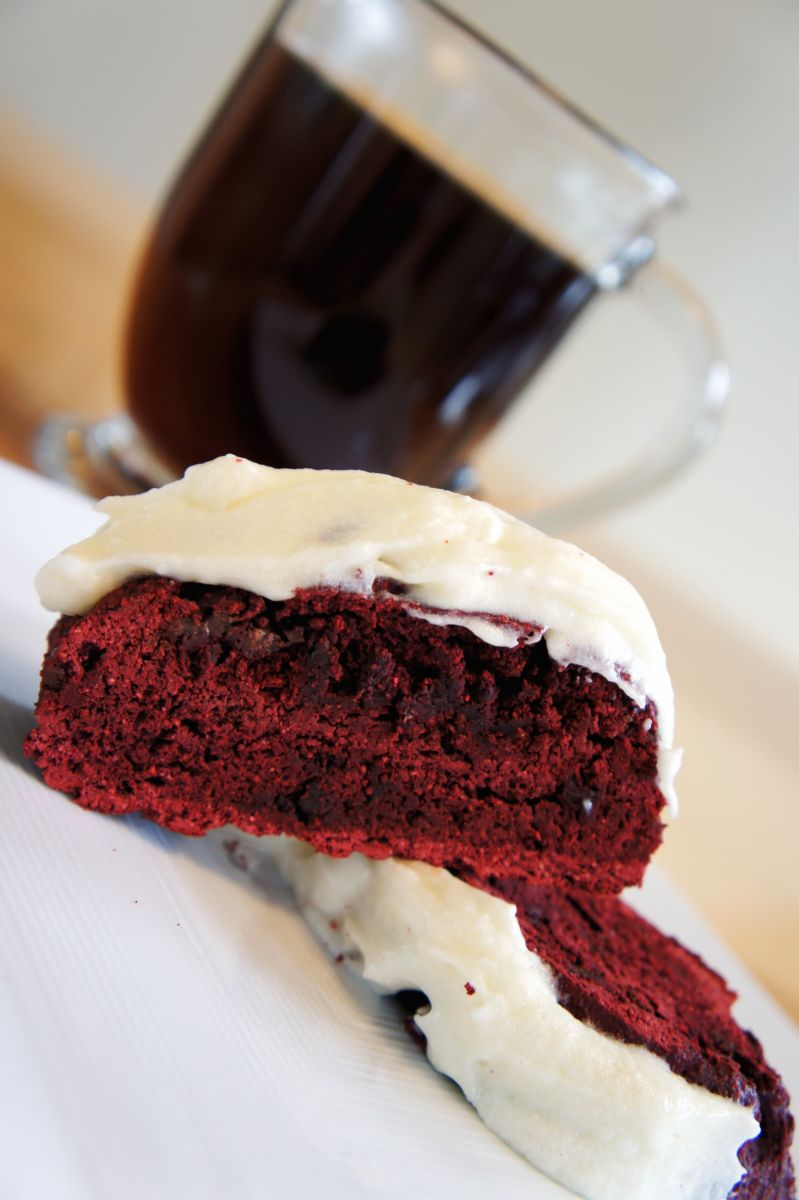 Red Velvet Biscotti with Cream Cheese