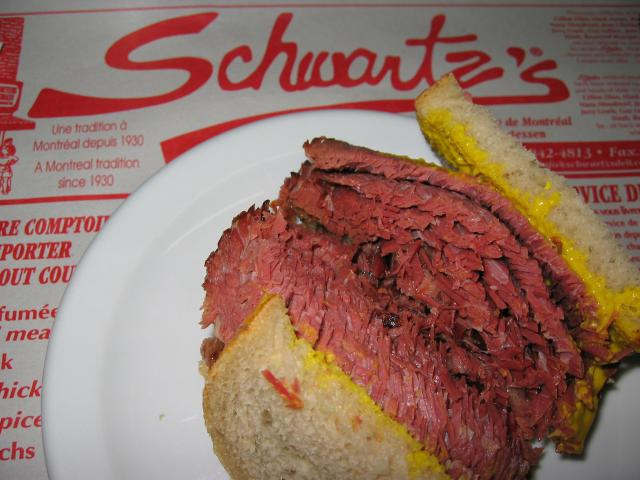 Schwartz is your must eat place