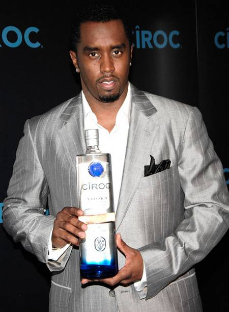 "Sean ""Diddy"" Combs with a bottle of Ciroc"