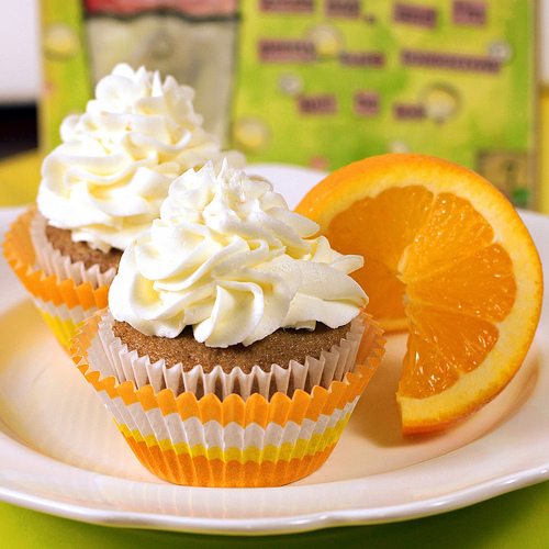 Orange Marmalade Iced Cupcakes