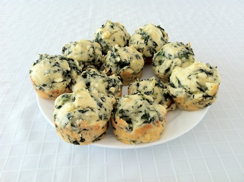 Cooking Muffins With Fried Spinach