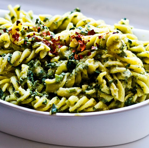 Fried Spinach Pasta