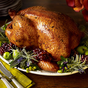 Traditional Roast Turkey With Oyster Stuffing