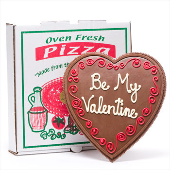 Valentine Heart Shaped Pizza