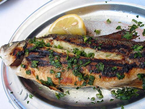 Cooking whole fish