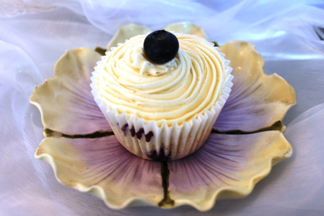 Wild Rice Blueberry Cupcake