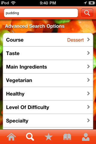 ifood.tv iphone app search options