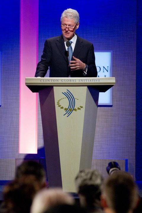 Bill Clinton sharing his views at the CGI Annual Meeting 2011