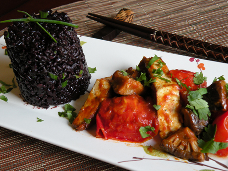 black rice tofu