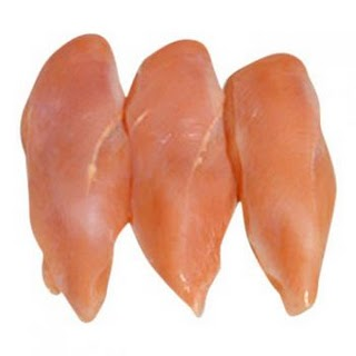 Boiled chicken breasts