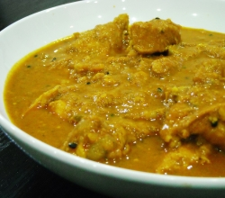 Chicken curry gracing a menu