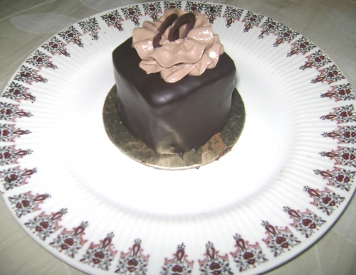 Chocolate ganache pastry