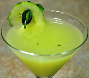 Cucumber Basil Garnish