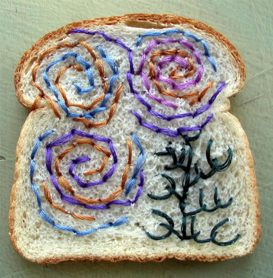 Embrodered bread is the latest thing