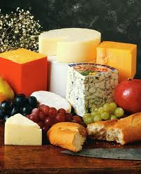 Eating gourmet cheese