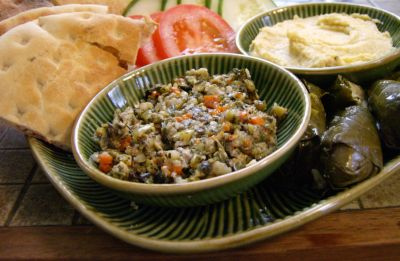 Few delicious mediterranean appetizers