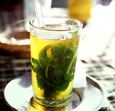 flavored mint tea