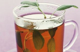 Sage tea for hair