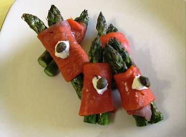 Salmon Wrap Garnish
