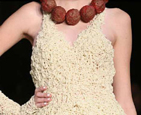 Spaghetti meatball dress