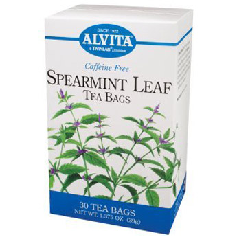 Spearmint tea for acne treatment