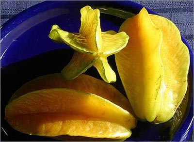 eating star fruit
