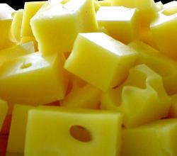 Cubed cheese