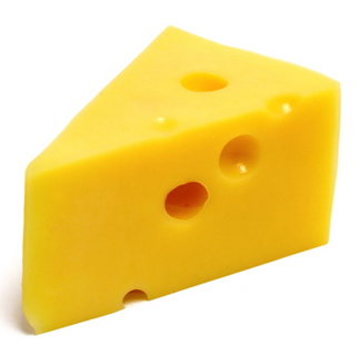 Emmental cheese is also called Swiss cheese in the US