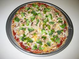 Whole Wheat Pizza With Green Peppers