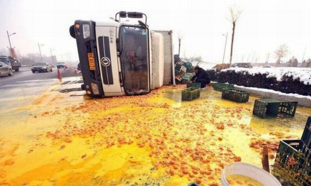Egg Truck Crash