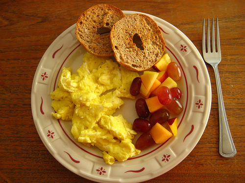 eggs and fruits