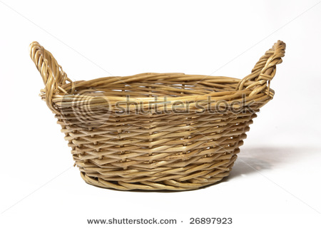Use an empty basket to make candy basket