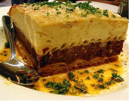 "Pastitsio is the Greek version of ""Pasta"""