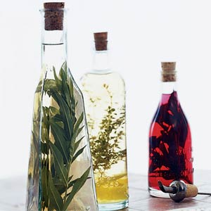 storing flavored vinegars