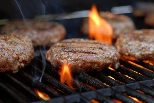 charcoal hamburgers