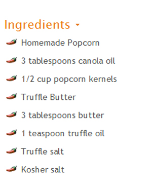 Ingredient List