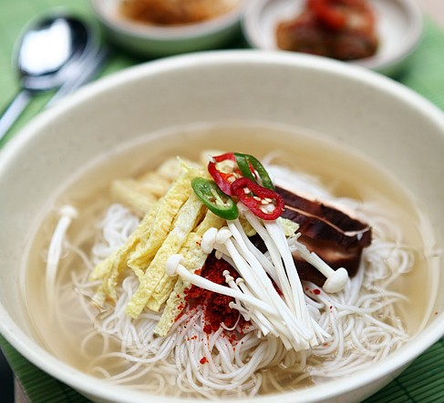 Janchi Guksu is a uniquely flavorful Korean noodle soup served during wedding feasts and birthdays