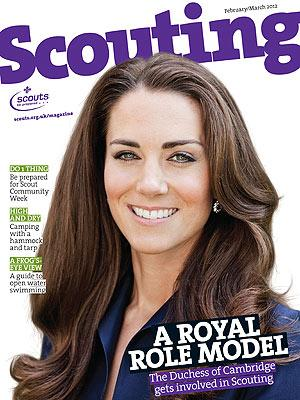 Kate Volunteers for Boy Scouts