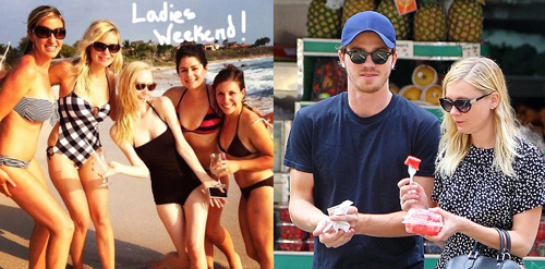 Kirsten Dunst With Friends In Mexico