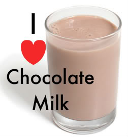 Refreshing glass of chocolate milk