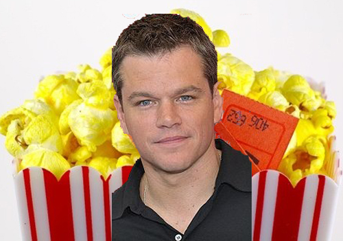matt damon loves popcorn