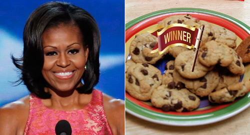 Michelle Obama winner of bake off