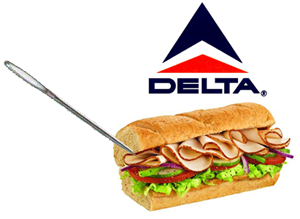 Needles in Delta Airlines Sandwiches