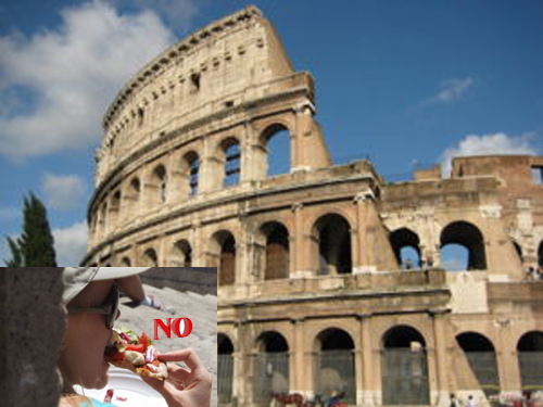 no snacking in Rome