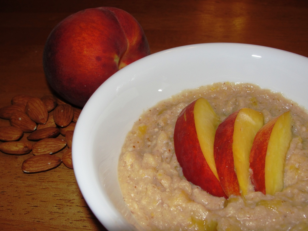 oatmeal and peach