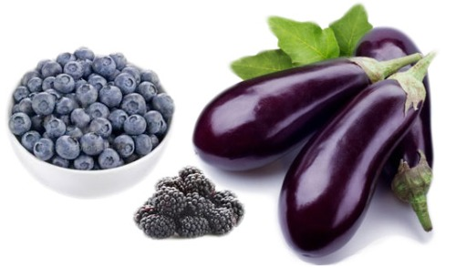 purple blue fruits n veggies